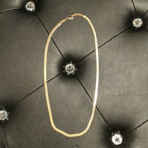 """Jewelry - 22"""" gold plated, thick, yellow gold chain"""